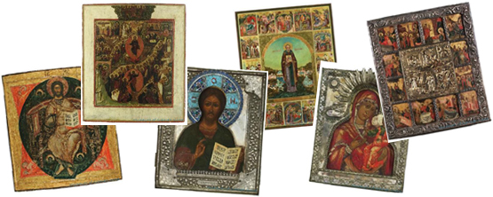 Assorted Russian Icons, photos courtesy of www.museumofrussianicons.org