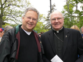Bernie (L) & Bishop O'Reilly from last year's record breaking Walk for the Homeless