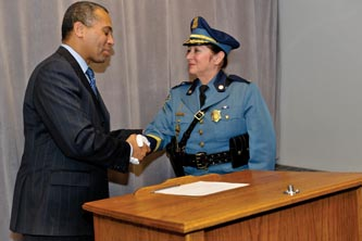 Governor Deval Patrick & Colonel McGovern on her swearing-in day