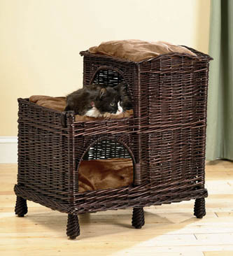 lifestyle-pets-rattan-multi-tiered-cat-palace-with-washable-pillows